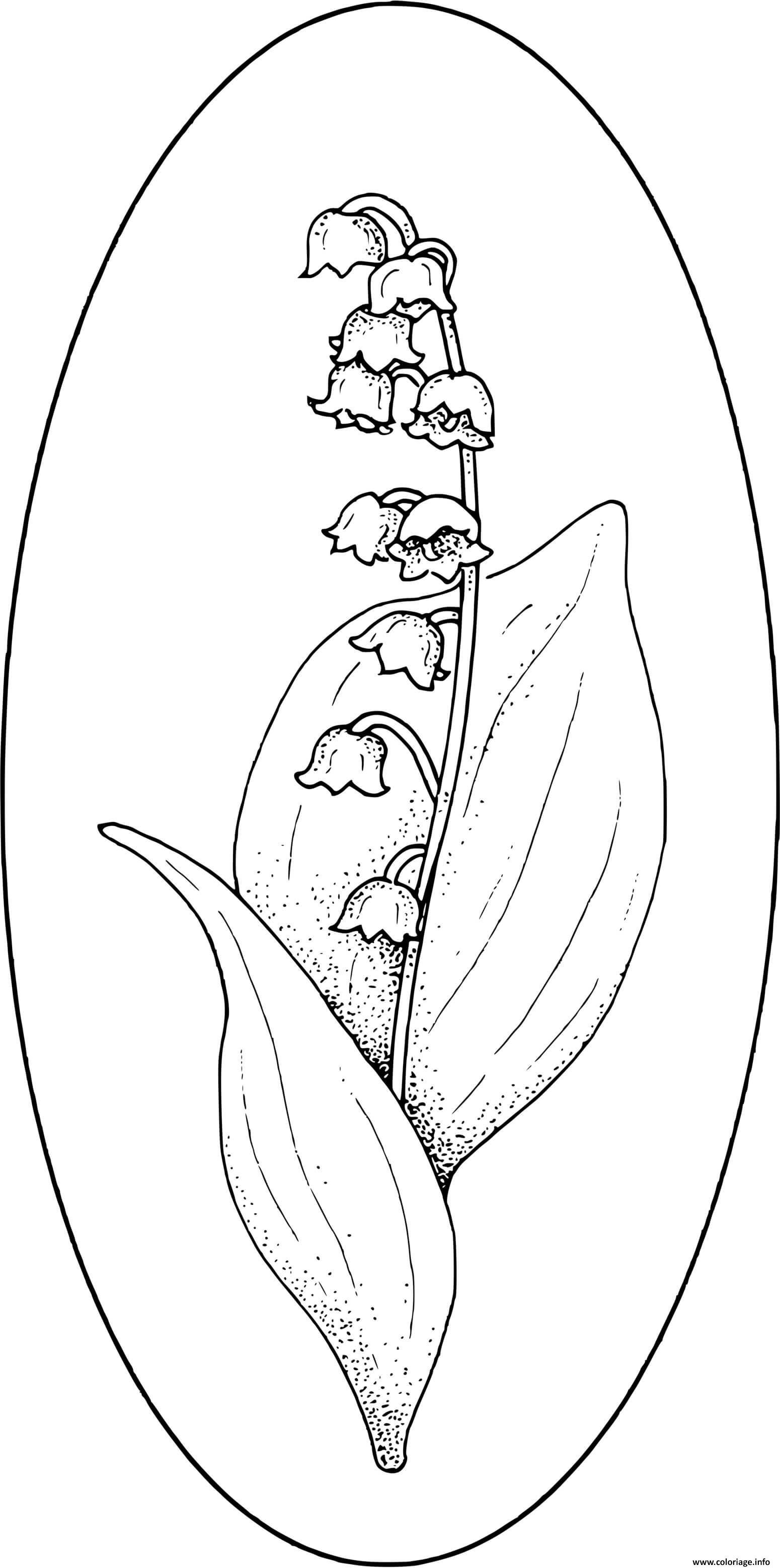 Dessin muguet de main fleur 1er mai Coloriage Gratuit à Imprimer