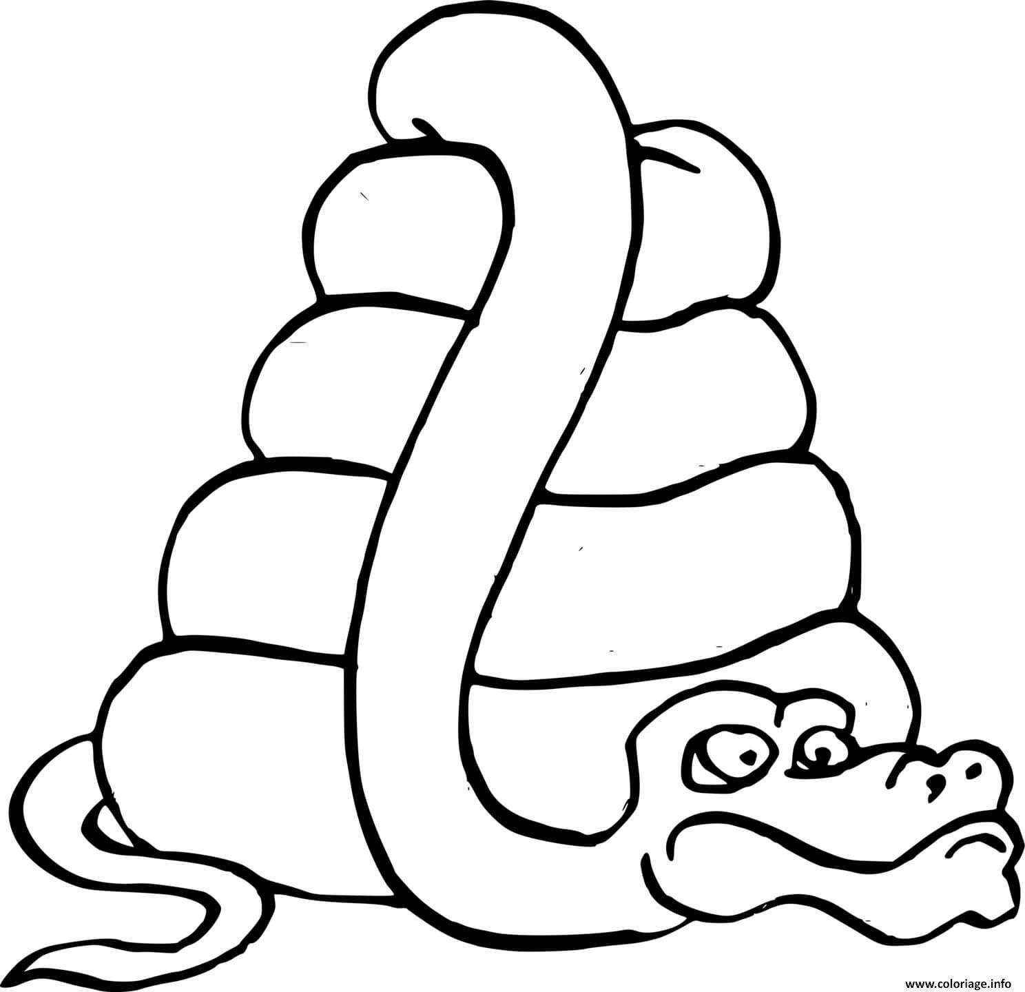Dessin pyramide serpent Coloriage Gratuit à Imprimer