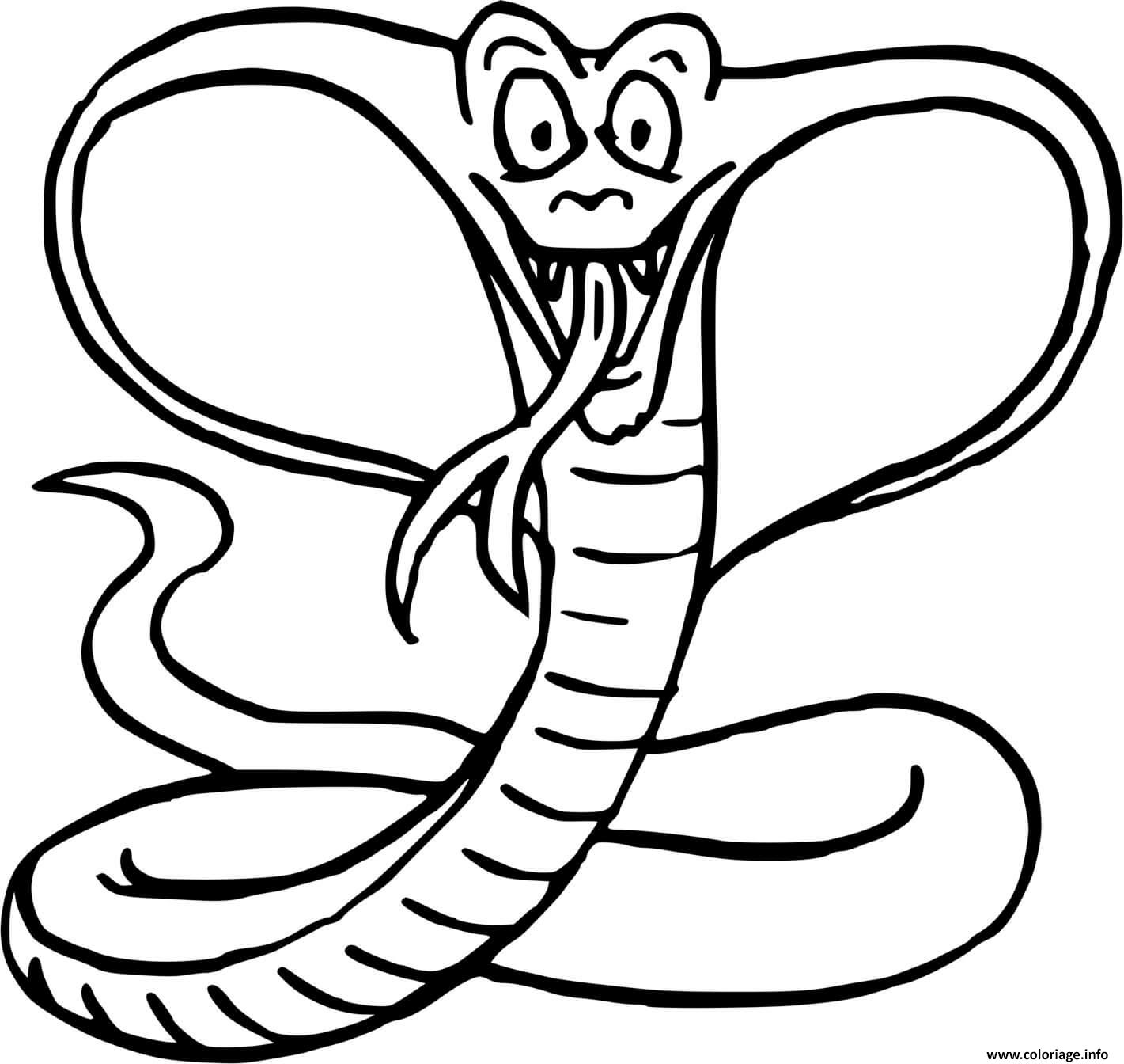 Dessin Cobra Coloriage Gratuit à Imprimer