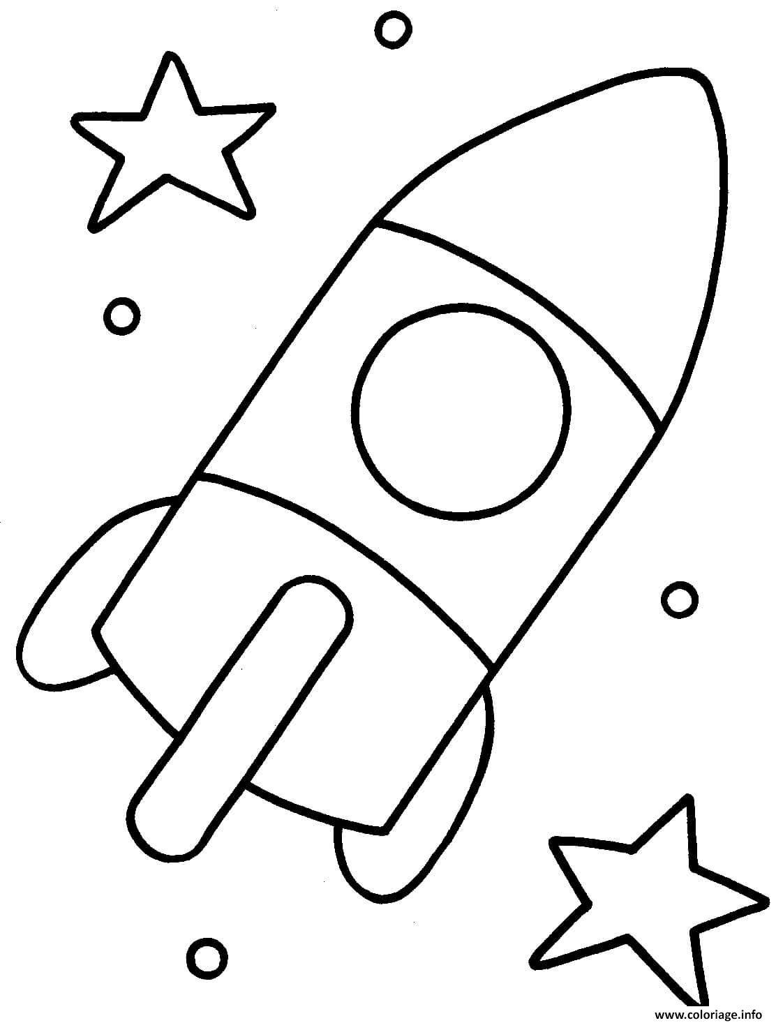 Dessin fusee spatiale maternelle Coloriage Gratuit à Imprimer