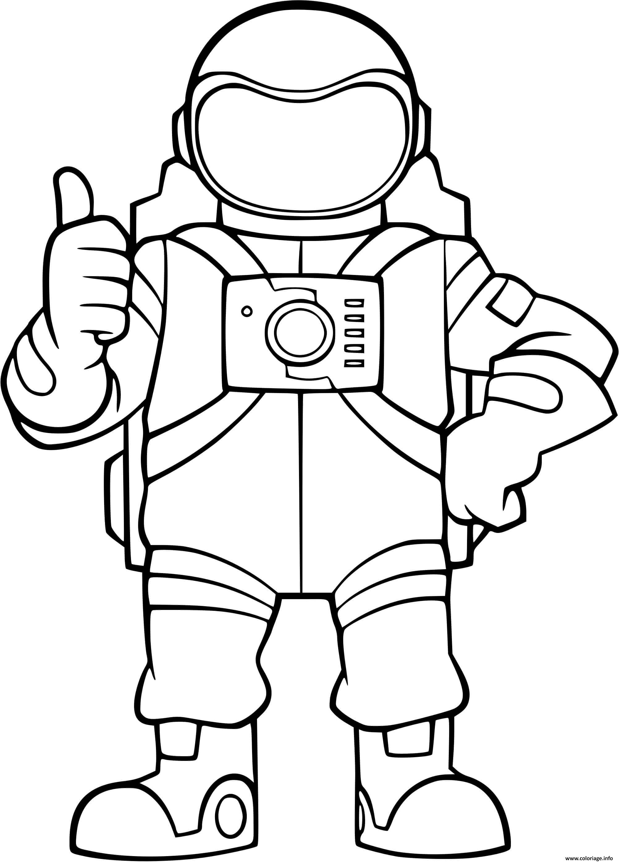 Dessin astronaute dans lespace Coloriage Gratuit à Imprimer