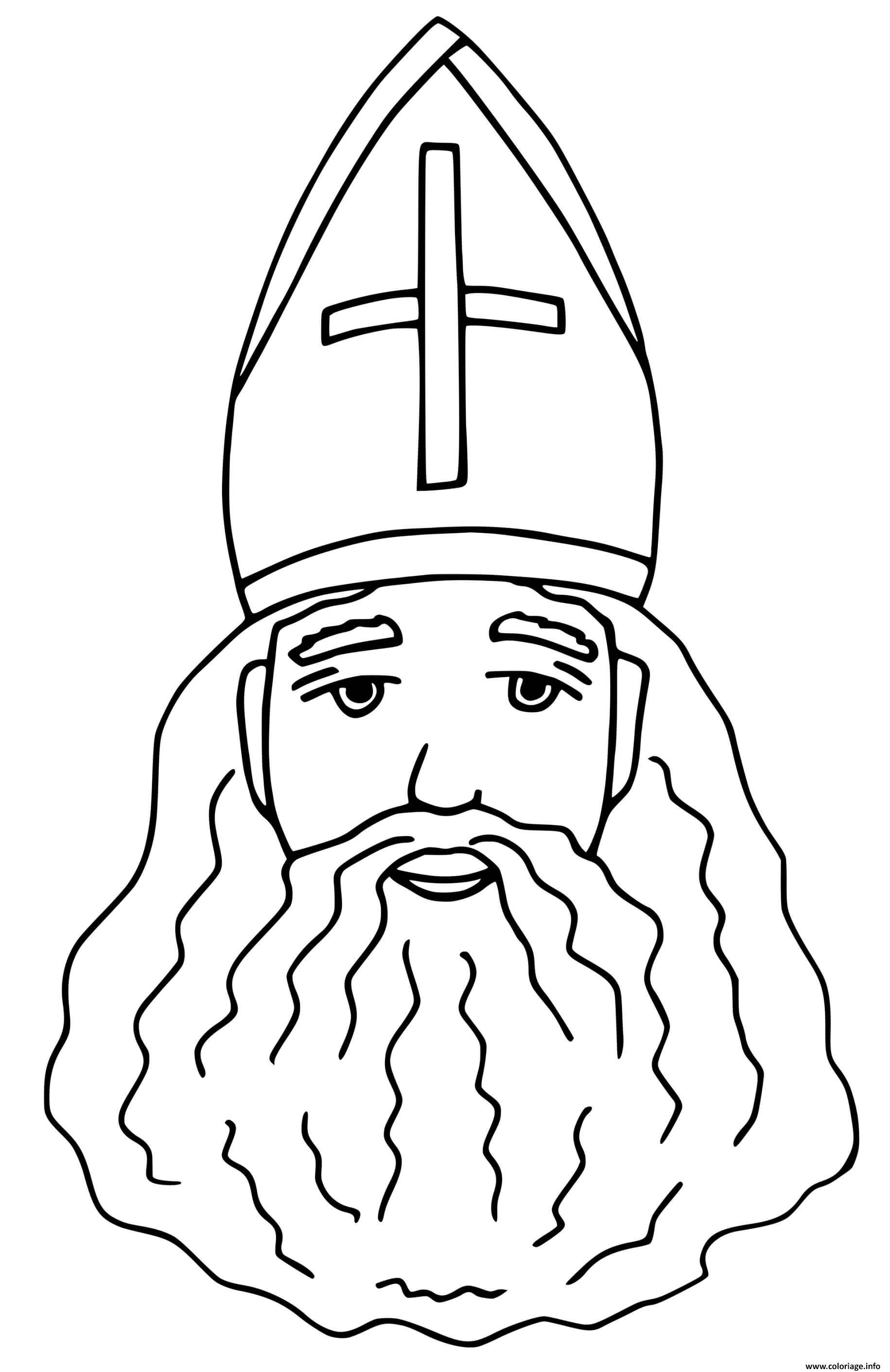 Dessin le saint nicolas personnage legendaire Coloriage Gratuit à Imprimer