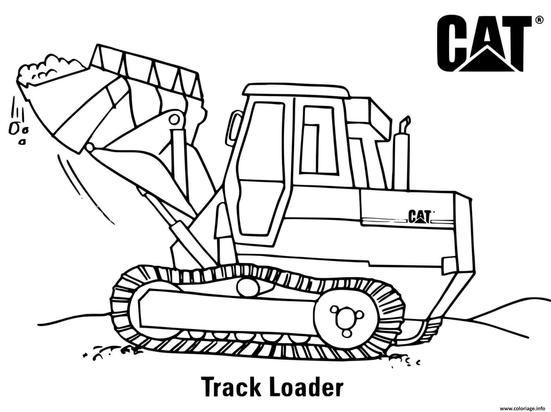 Dessin tracker loader chantier chargeur Coloriage Gratuit à Imprimer