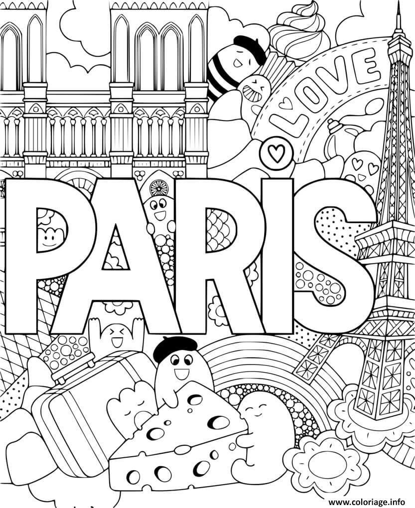 Dessin mandala paris Coloriage Gratuit à Imprimer