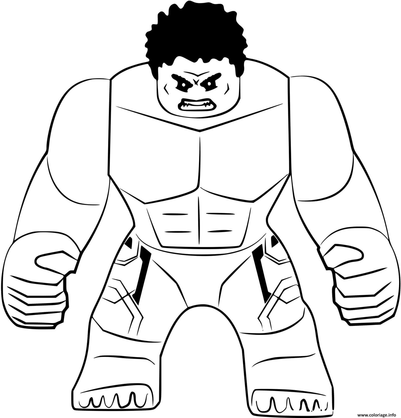 Dessin Lego The Hulk super heros Coloriage Gratuit à Imprimer