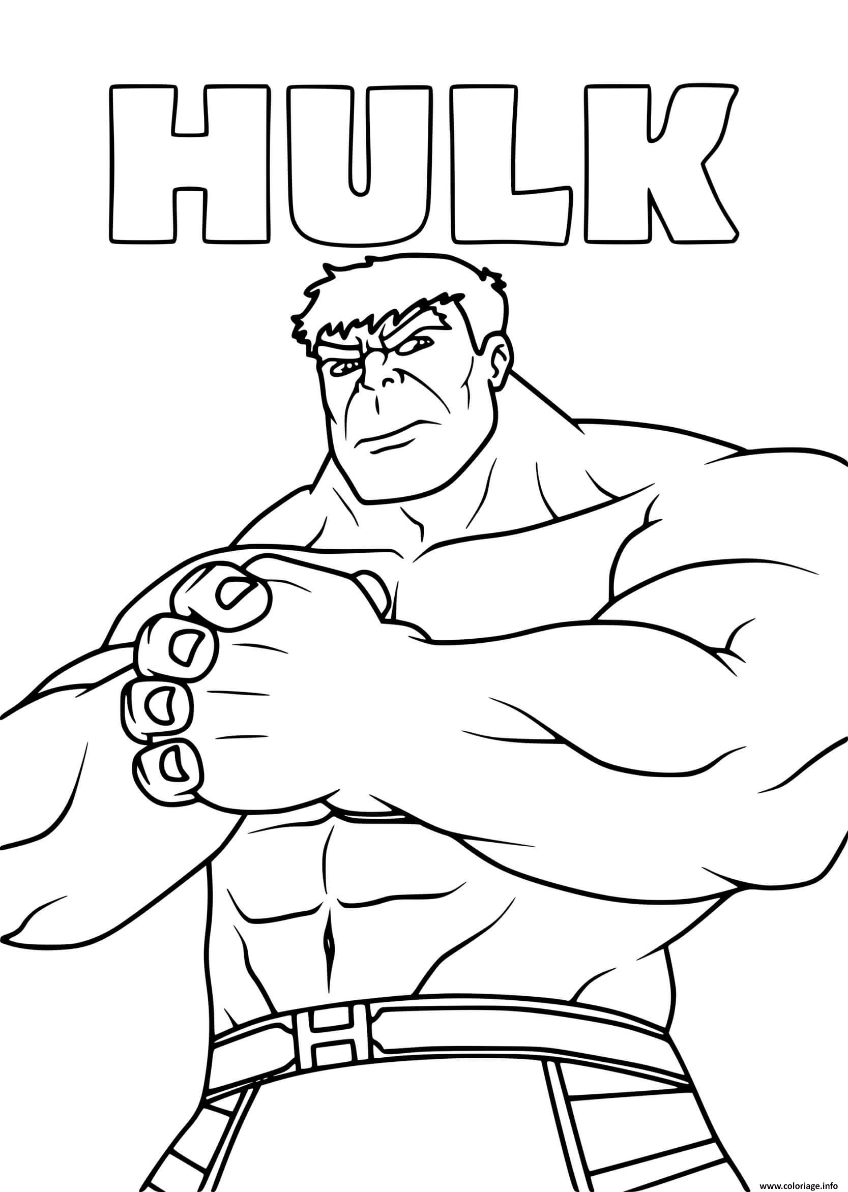 Dessin hulk titan vert super heros Coloriage Gratuit à Imprimer