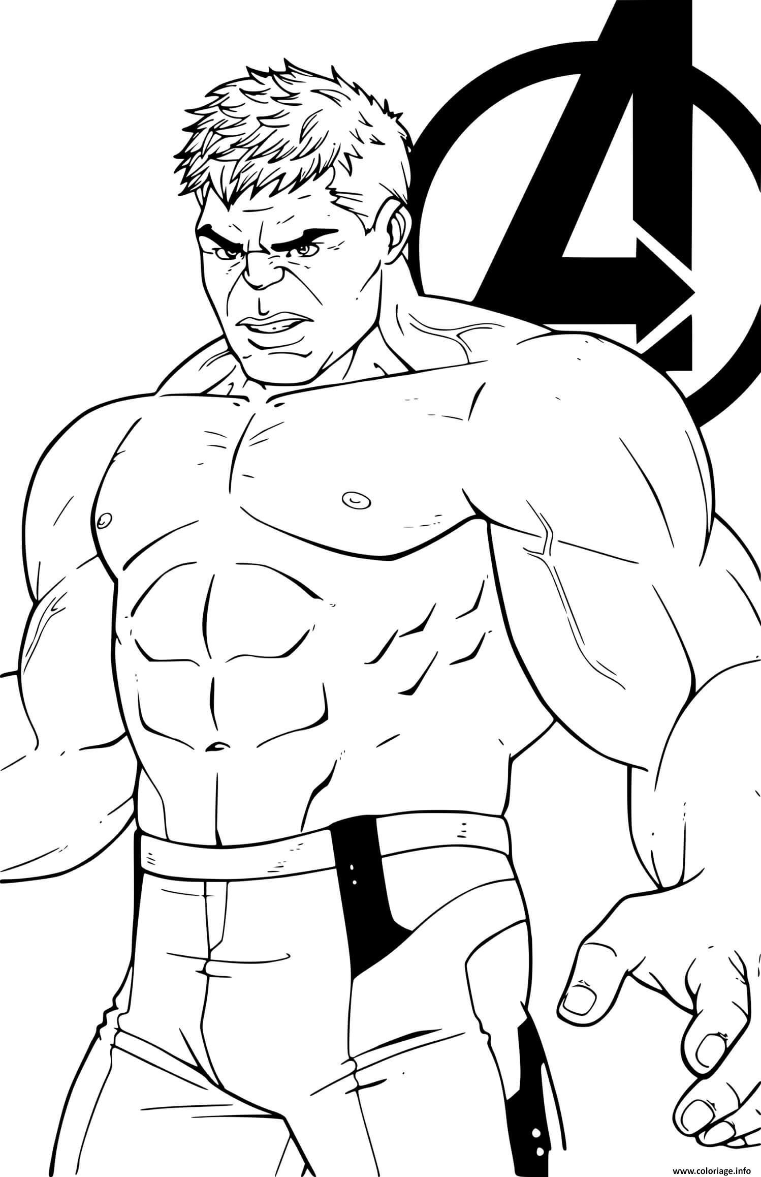 Dessin hulk avengers endgame Coloriage Gratuit à Imprimer