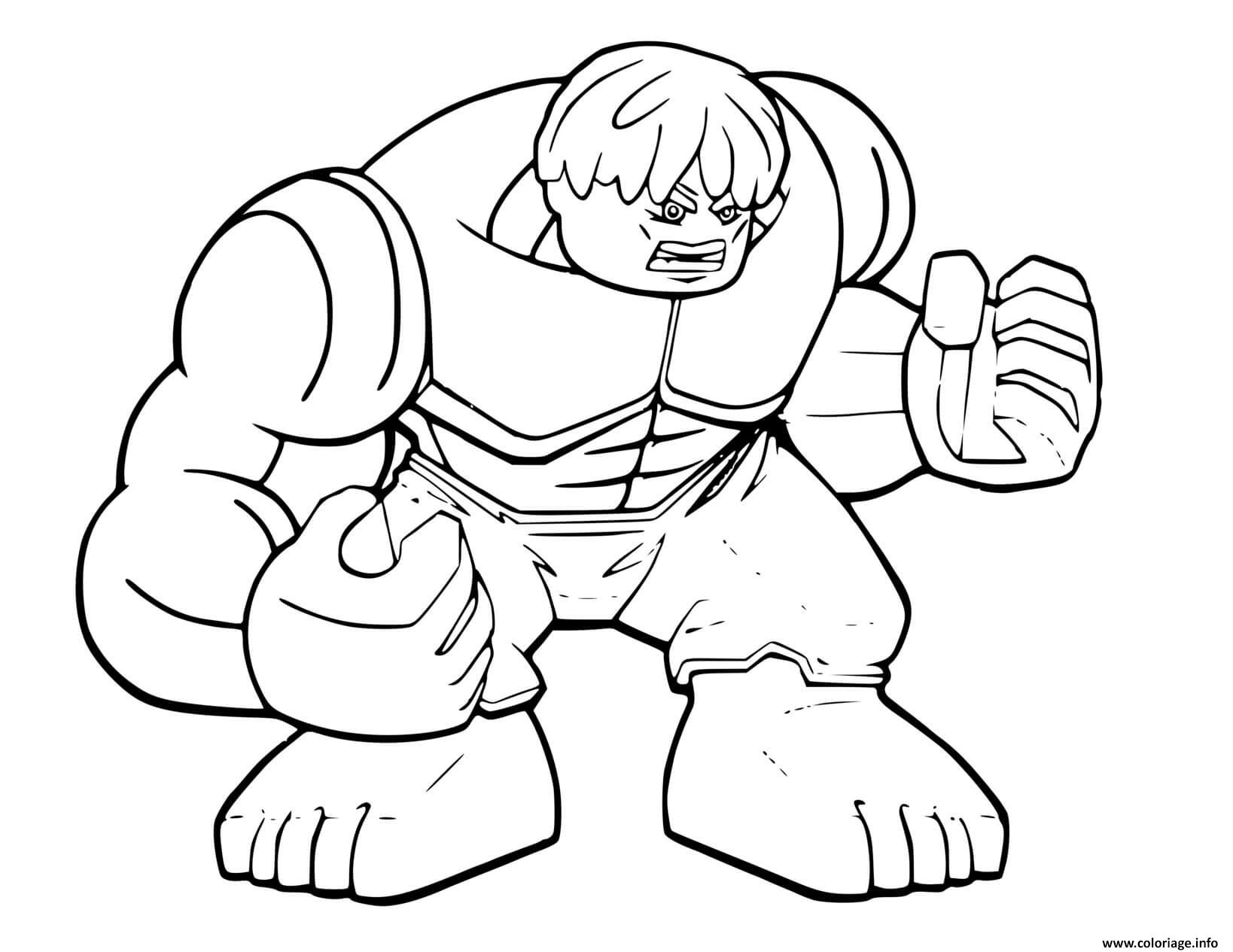 Dessin lego hulk avengers Coloriage Gratuit à Imprimer