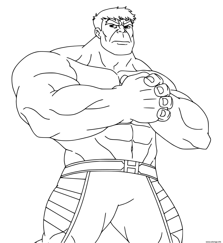 Dessin hulk peut soulever une centaine de tonnes Coloriage Gratuit à Imprimer