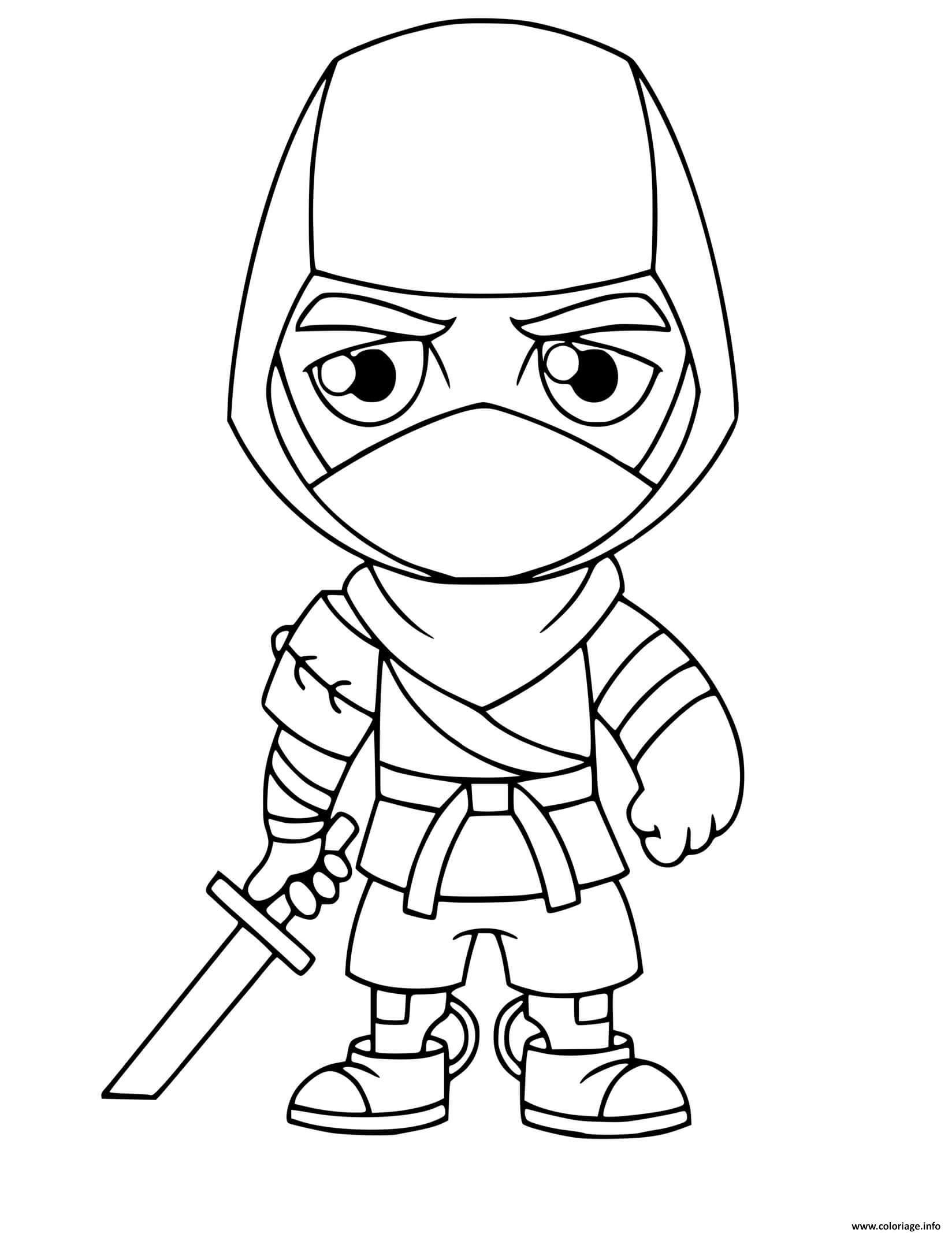 Dessin ninja fortnite espions Coloriage Gratuit à Imprimer