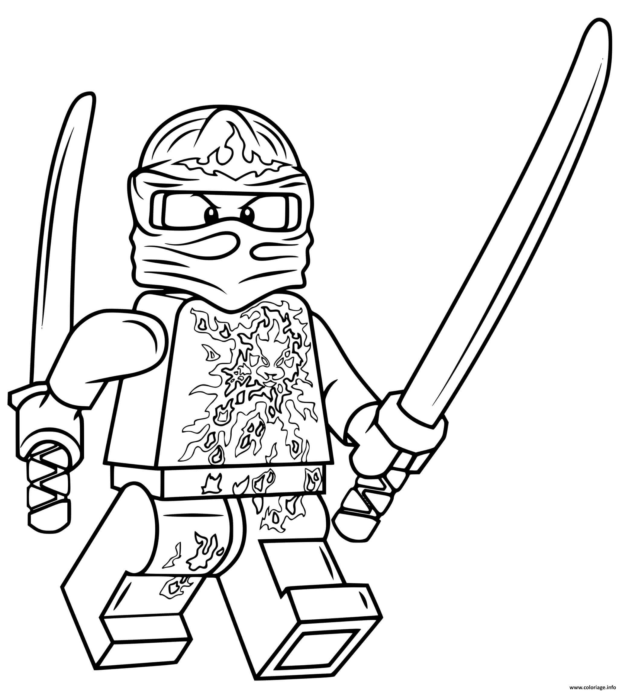Dessin lego ninjago kai nrg Coloriage Gratuit à Imprimer