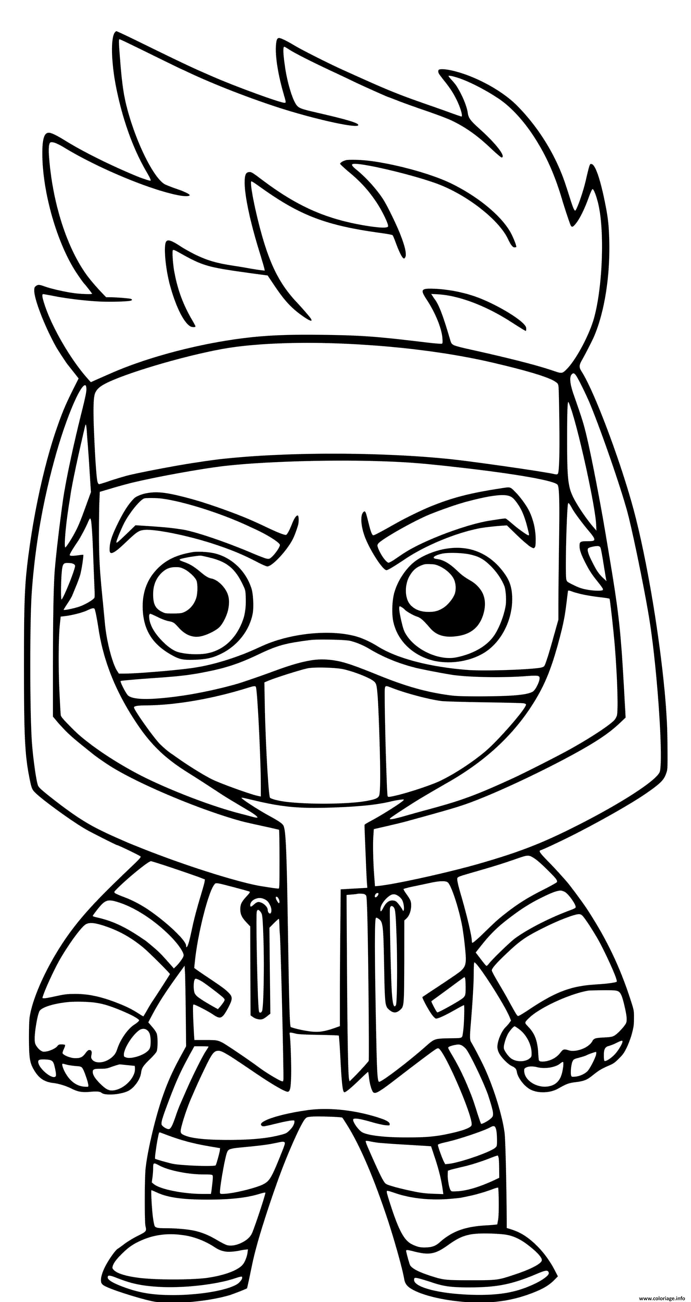 Dessin ninja fortnite fort Coloriage Gratuit à Imprimer
