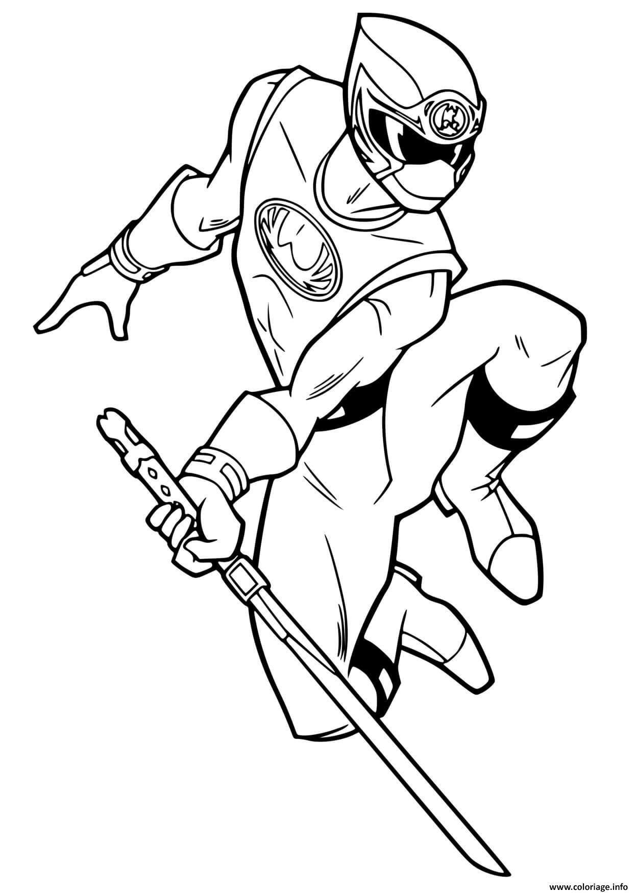 Dessin power rangers ninja Coloriage Gratuit à Imprimer