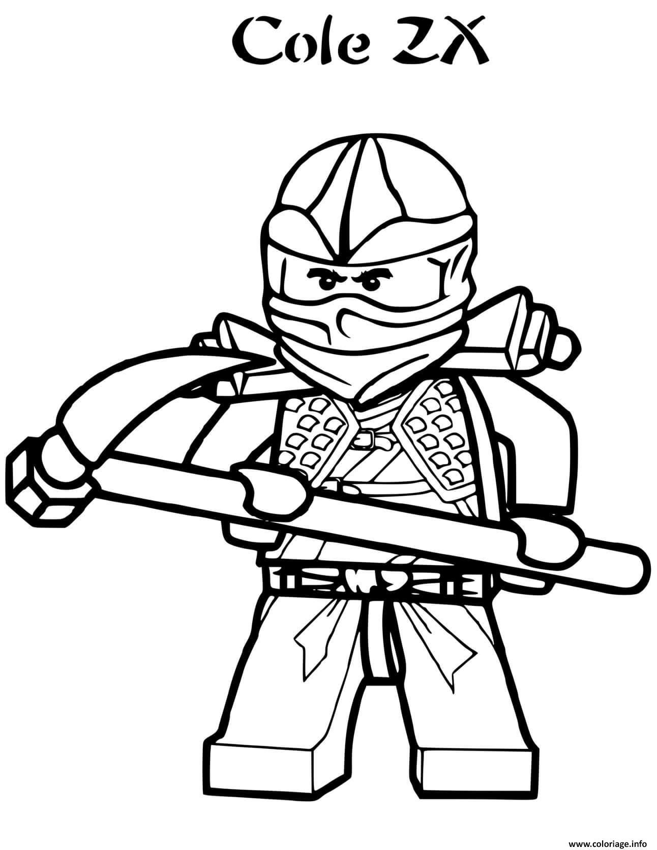 Dessin ninjago cole zx ninja Coloriage Gratuit à Imprimer