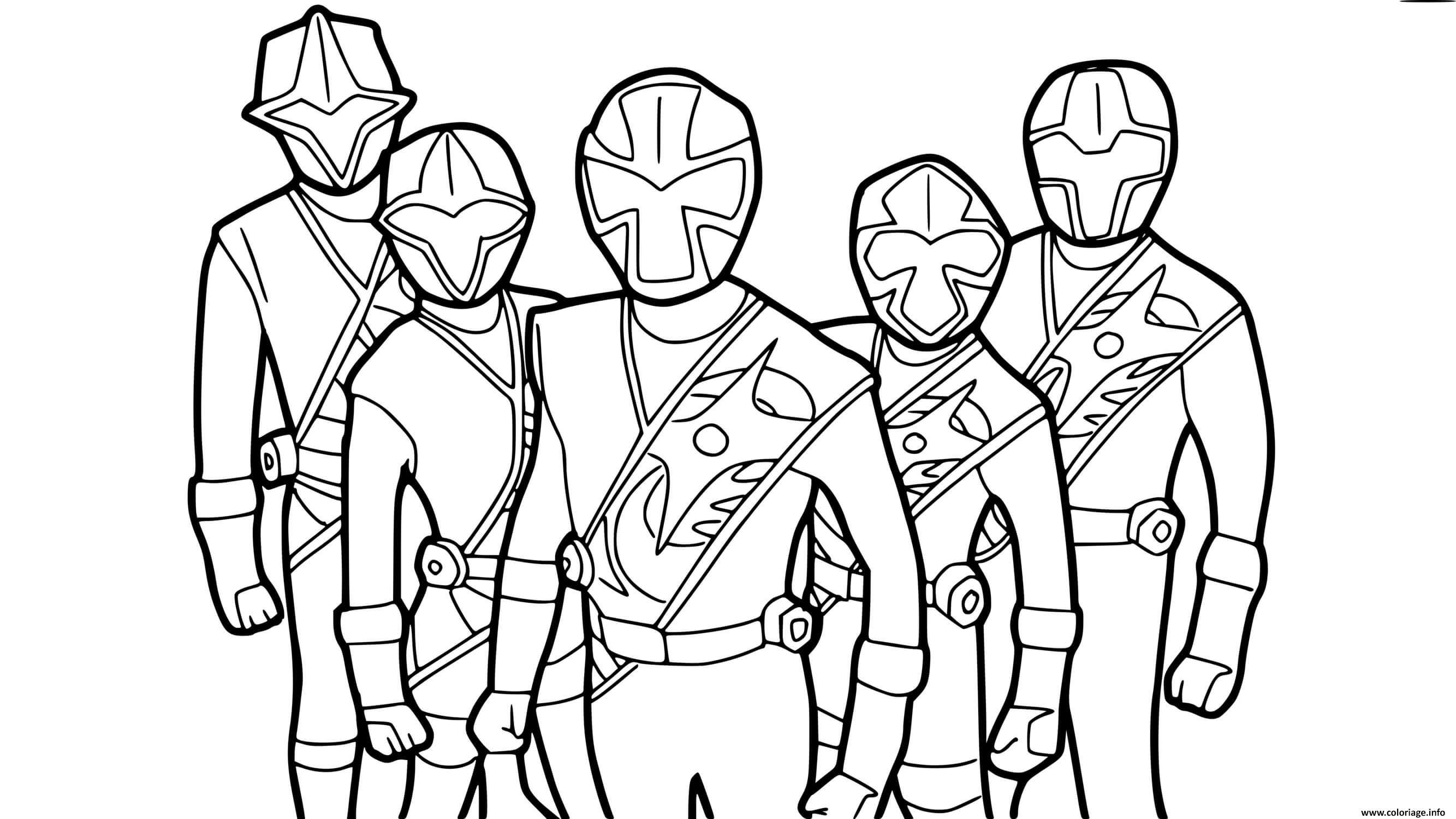 Dessin ninja steel power rangers Coloriage Gratuit à Imprimer