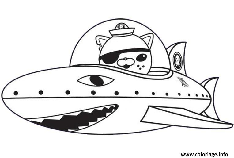 Dessin octonaut gup b requin Coloriage Gratuit à Imprimer