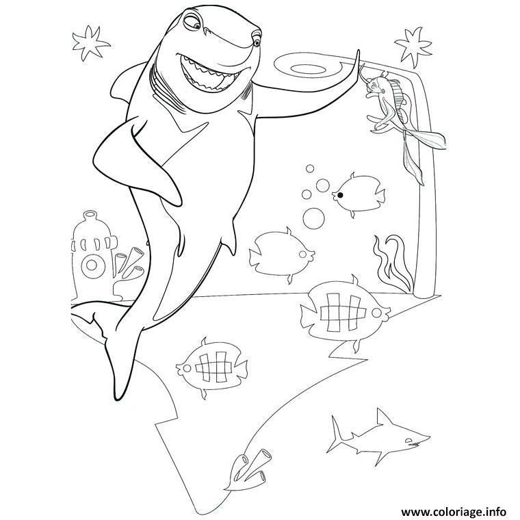 Dessin requin nemo Coloriage Gratuit à Imprimer