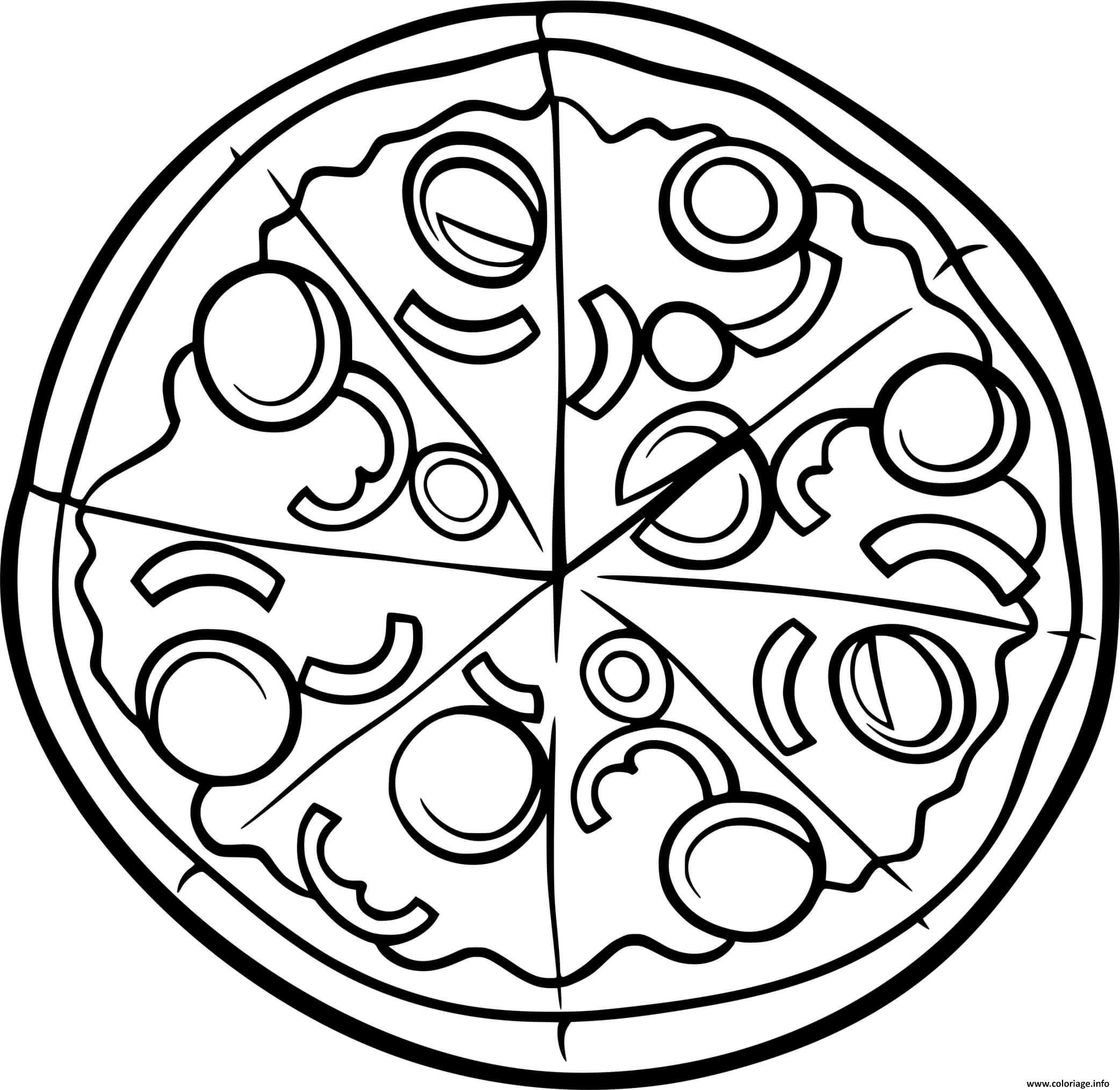 Dessin pizza artisan de la californie Coloriage Gratuit à Imprimer