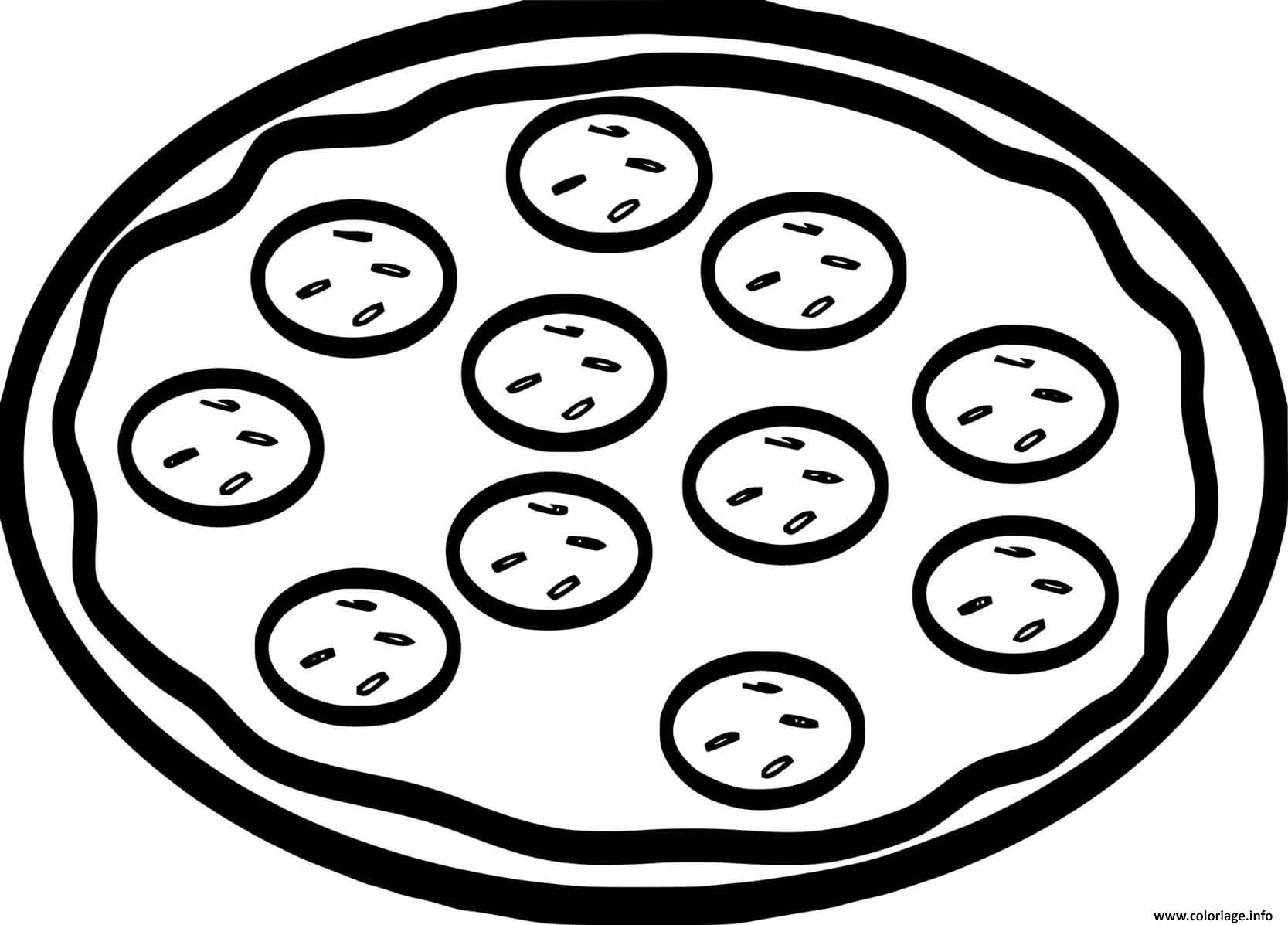 Dessin pizza tomate simple Coloriage Gratuit à Imprimer