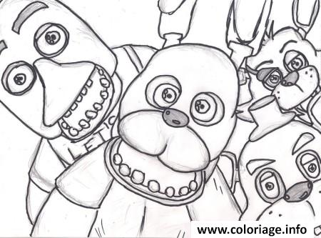 Dessin family five nights at freddys fnaf 2 coloring pages Coloriage Gratuit à Imprimer