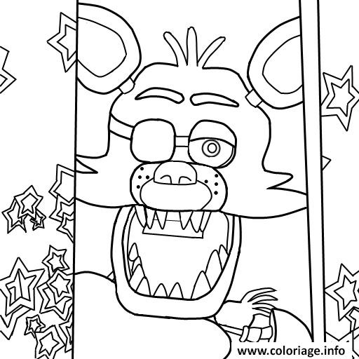 Dessin five nights at freddys fnaf foxy to color coloring pages Coloriage Gratuit à Imprimer