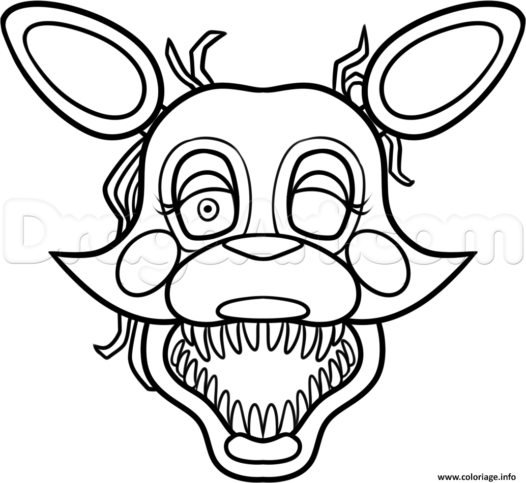 Dessin mangle from five nights at freddys 2 fnaf coloring pages Coloriage Gratuit à Imprimer