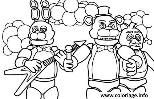 Dessin five nights at freddys fnaf music band coloring pages Coloriage Gratuit à Imprimer