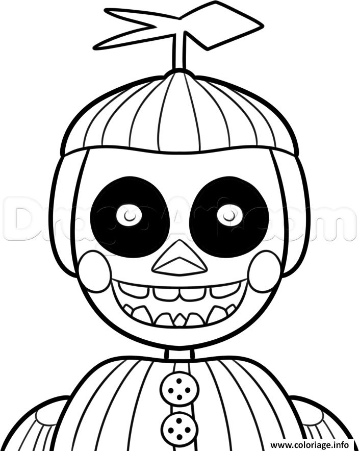 Dessin phantom balloon boy phantom five nights at freddys fnaf coloring pages Coloriage Gratuit à Imprimer