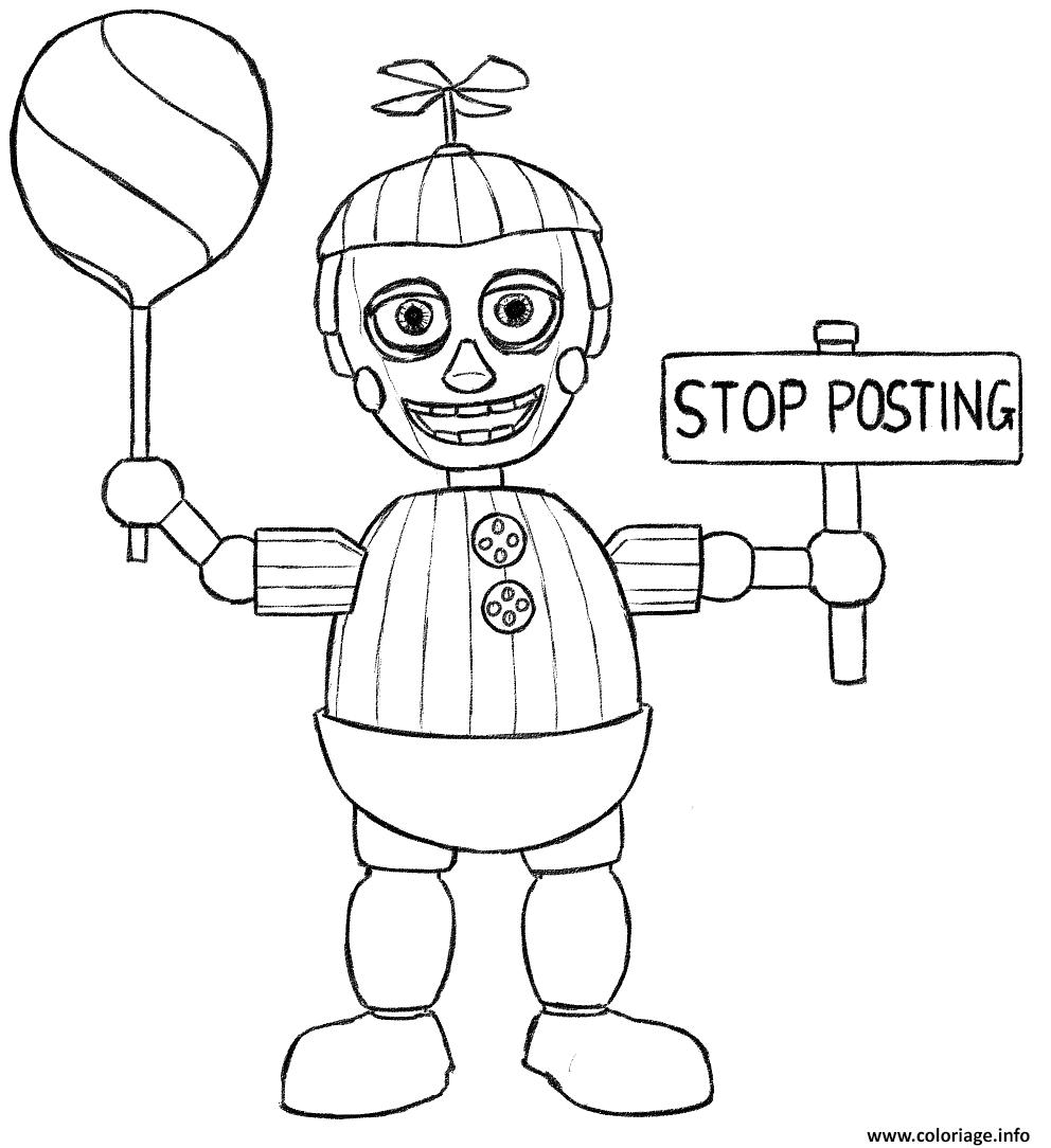 Dessin balloon boy phantom five nights at freddys fnaf coloring pages Coloriage Gratuit à Imprimer