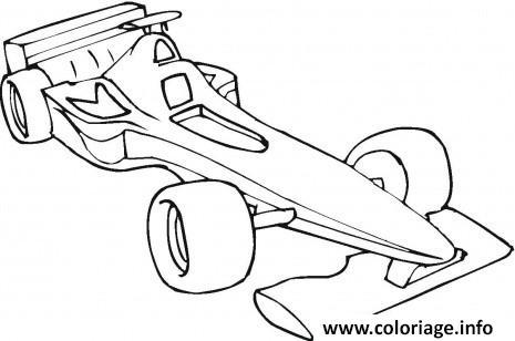 Dessin voiture Formule 1 Coloriage Gratuit à Imprimer