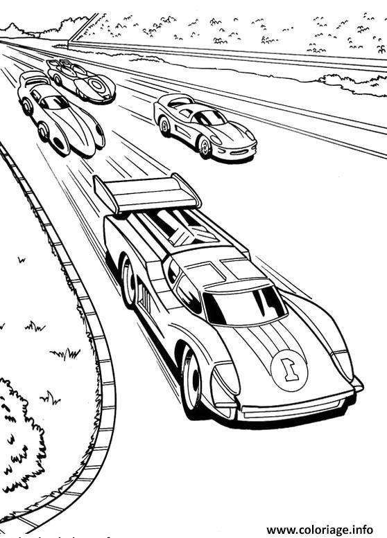 Dessin piste de course voitures Coloriage Gratuit à Imprimer