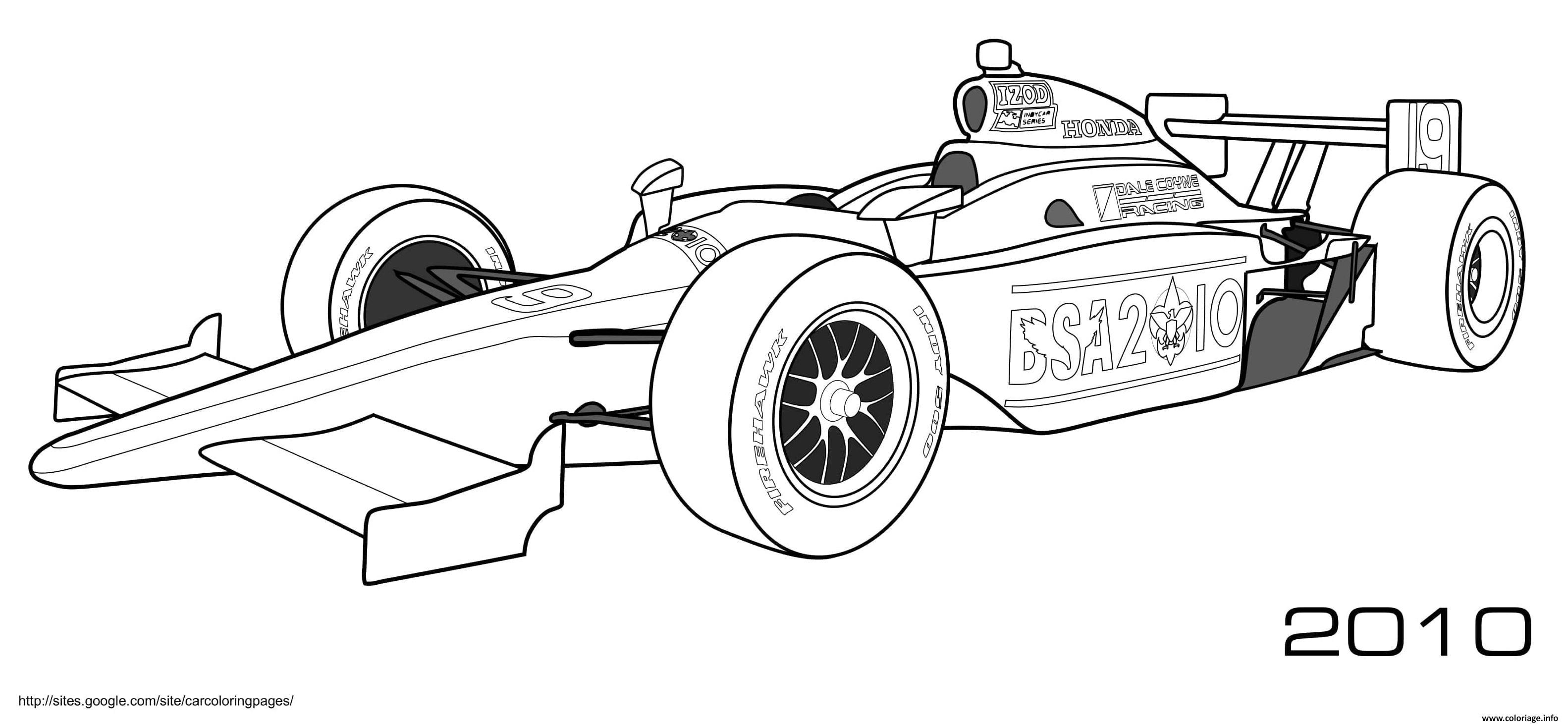 Dessin Formule 1 Honda Firehawk Izod Coloriage Gratuit à Imprimer