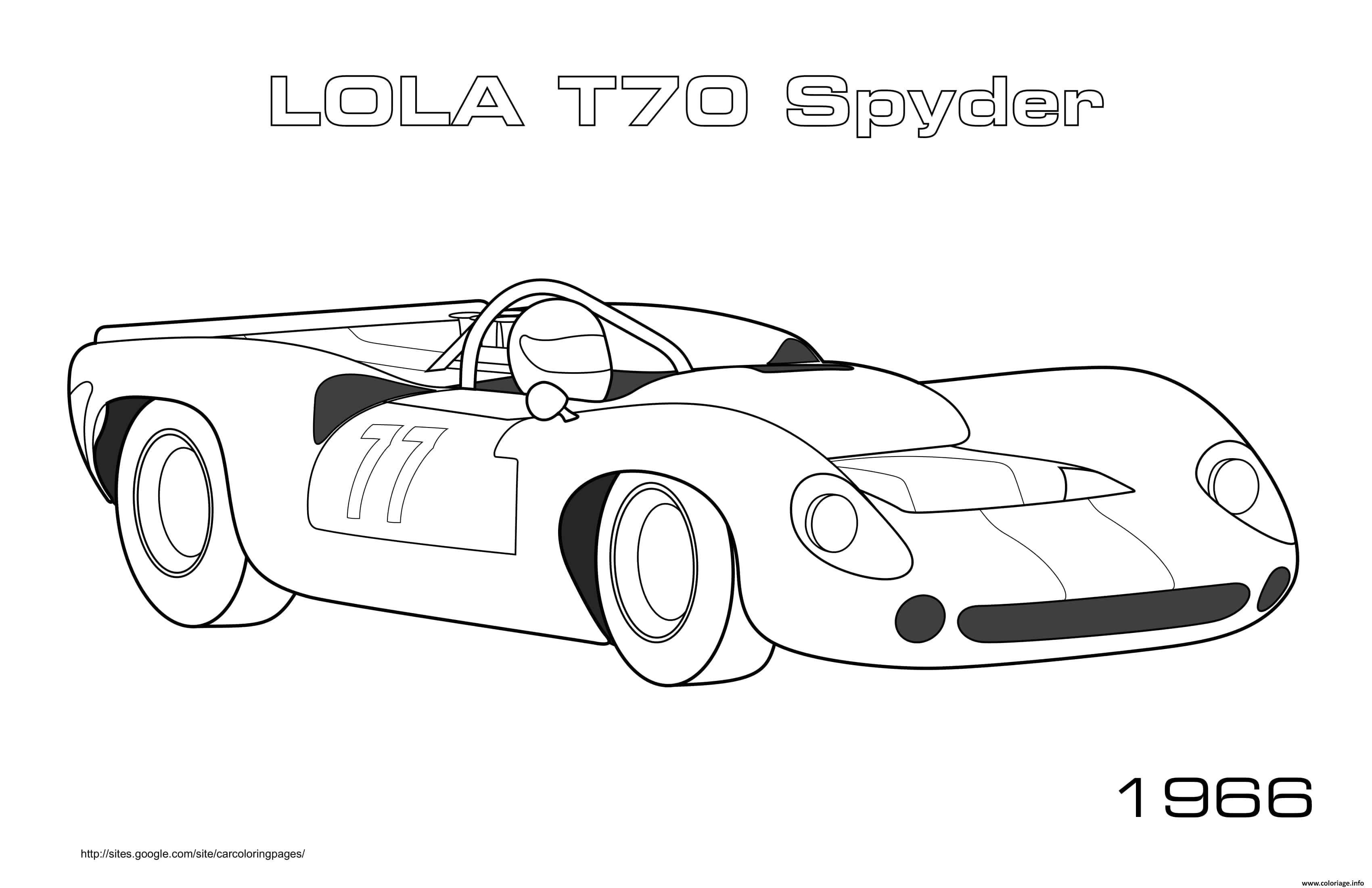Dessin Lola T70 Spyder 1966 Coloriage Gratuit à Imprimer