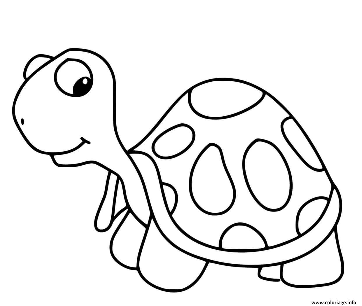 Dessin jolie tortue dait de beau yeux Coloriage Gratuit à Imprimer