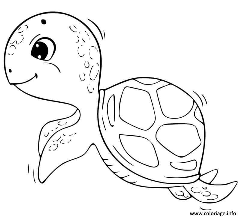 Dessin tortue facile maternelle Coloriage Gratuit à Imprimer