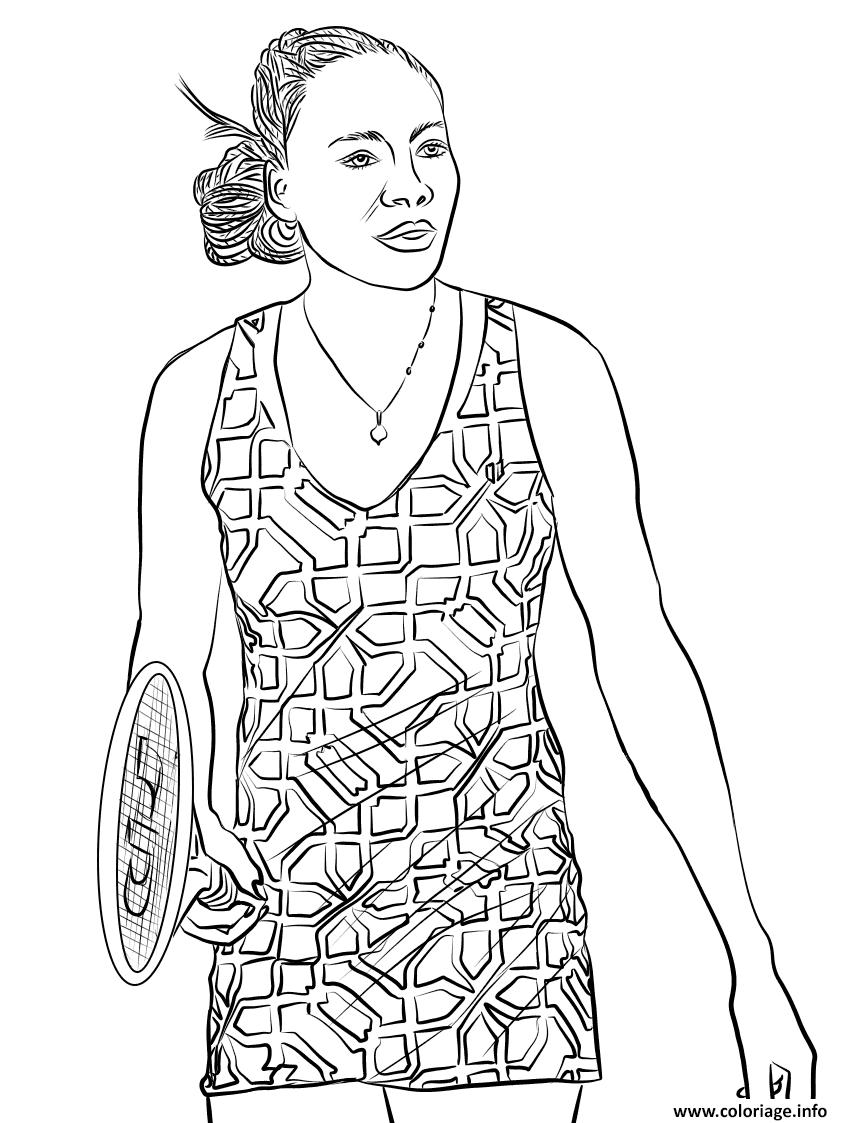 Dessin venus williams tennis Coloriage Gratuit à Imprimer