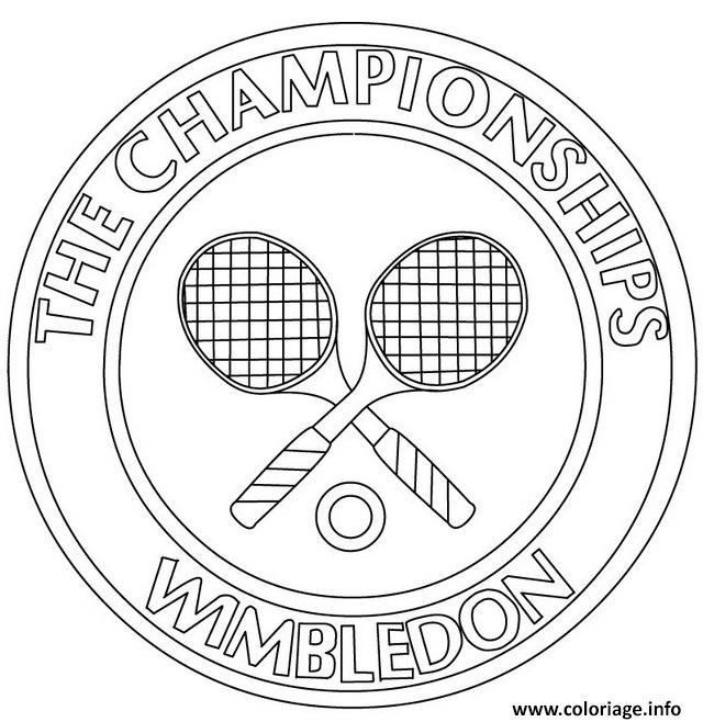 Dessin tennis the championships wmbledon Coloriage Gratuit à Imprimer