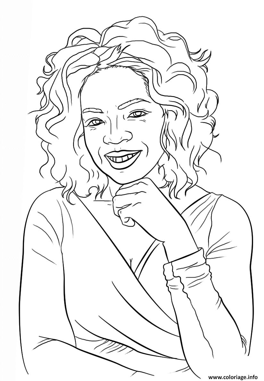 Dessin oprah winfrey celebrite star Coloriage Gratuit à Imprimer