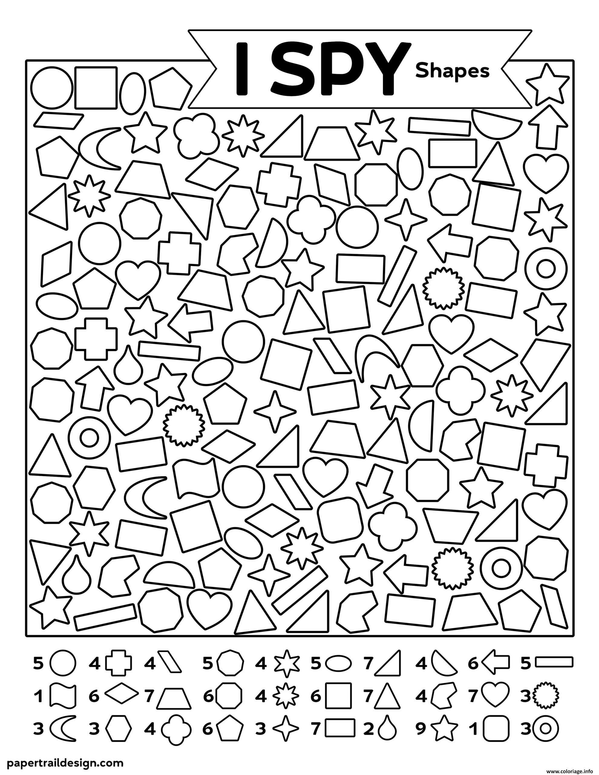 Dessin Formes Cherche et Trouve Coloriage Gratuit à Imprimer