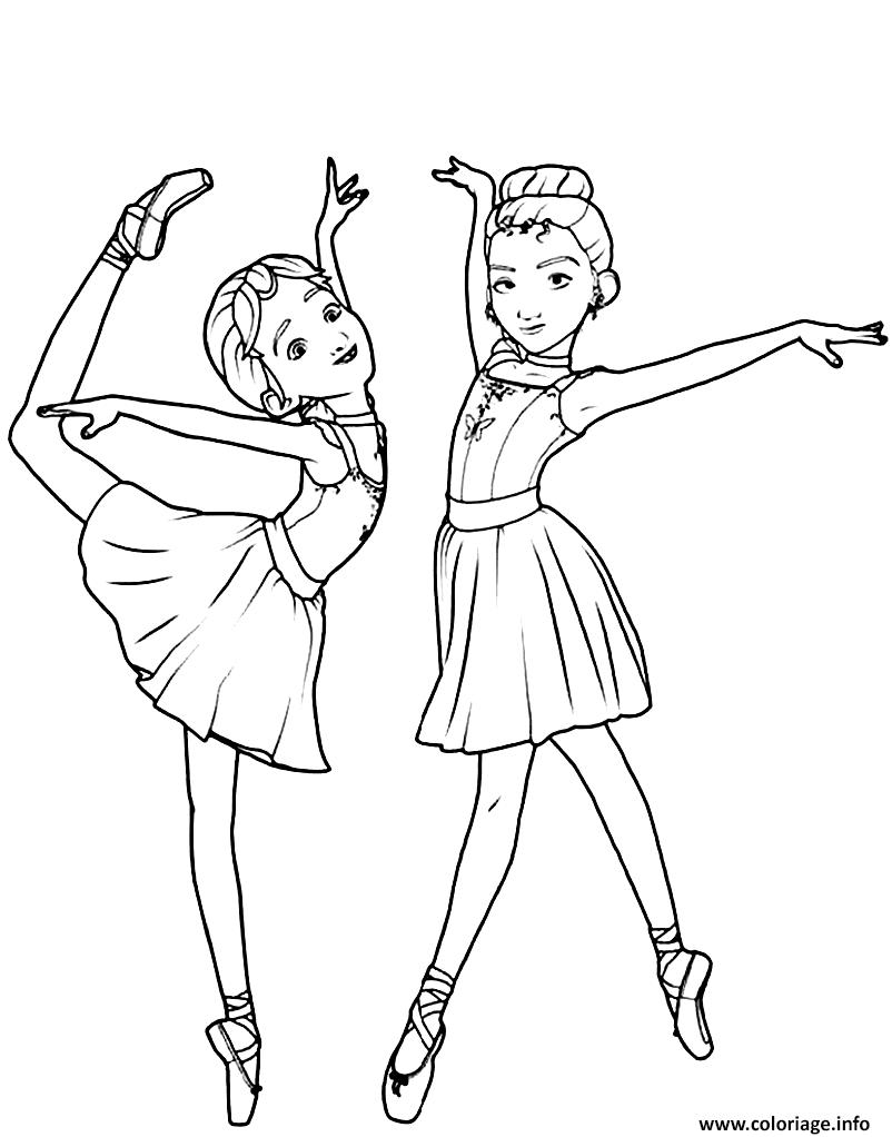 Dessin danseuse camille le haut et felicie milliner de ballerina Coloriage Gratuit à Imprimer