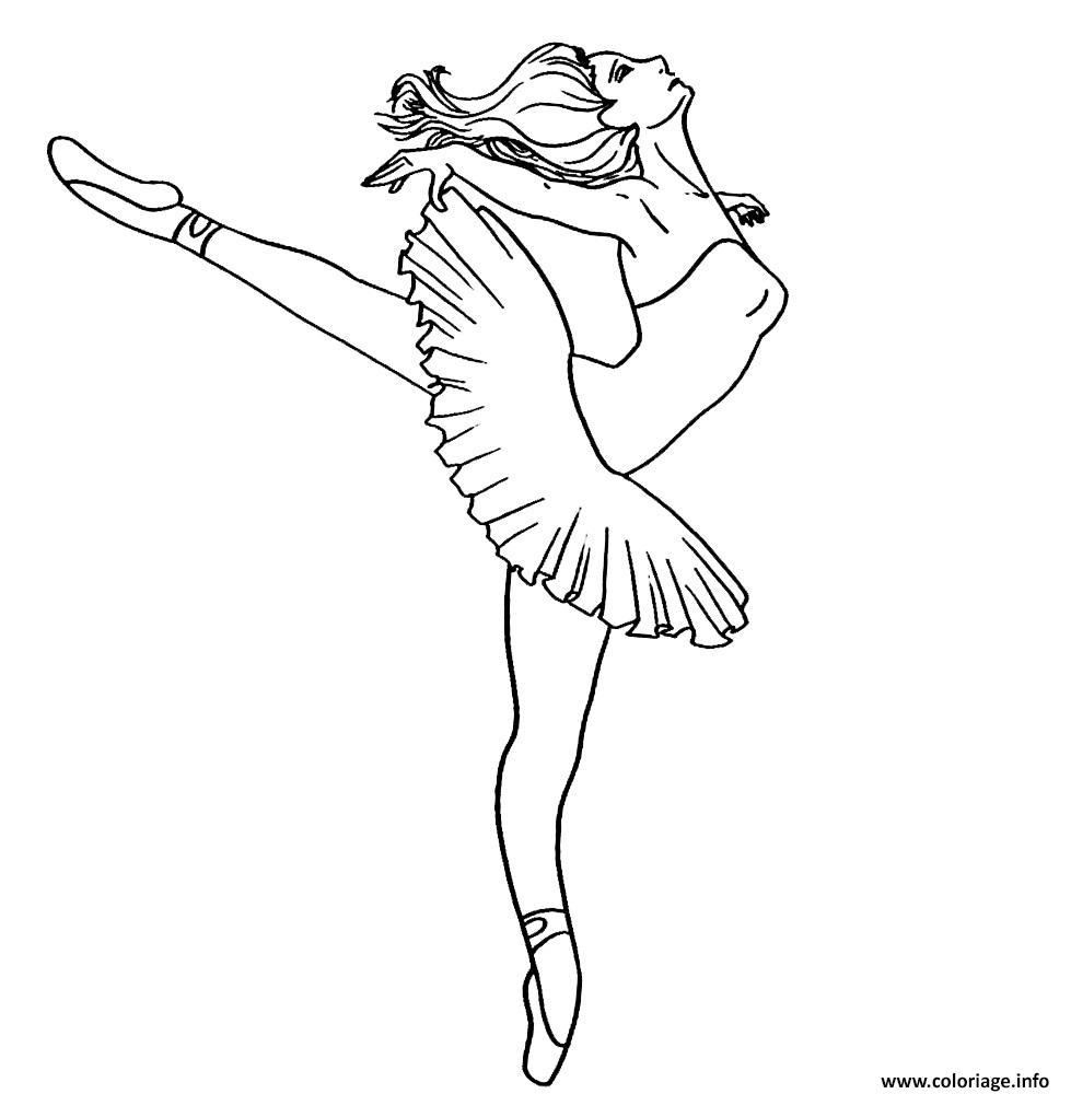 Dessin barbie danseuse etoile Coloriage Gratuit à Imprimer