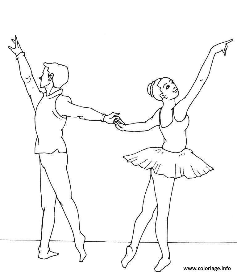 Dessin danseur et danseuse Coloriage Gratuit à Imprimer