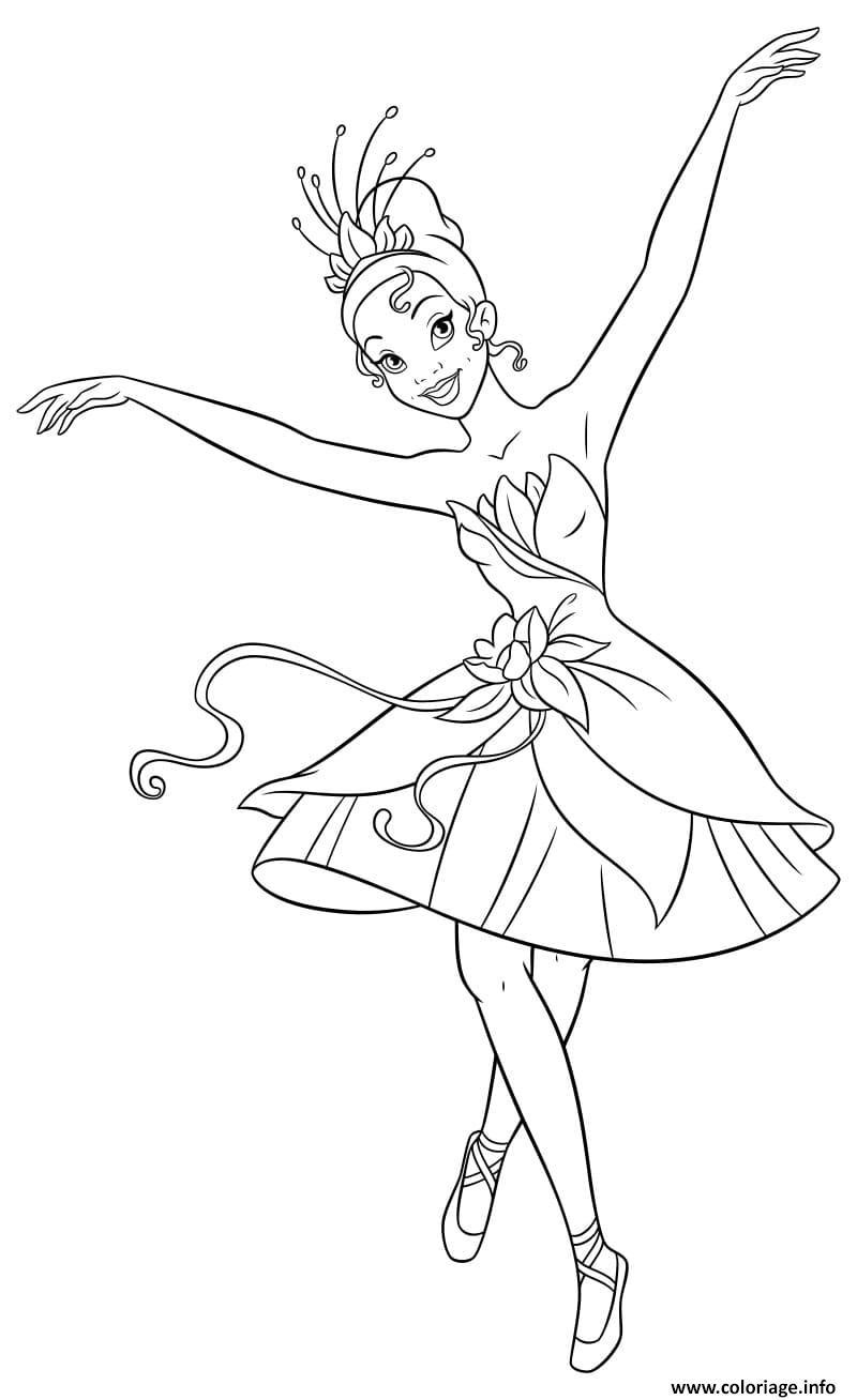 Dessin ballerine danseuse Coloriage Gratuit à Imprimer