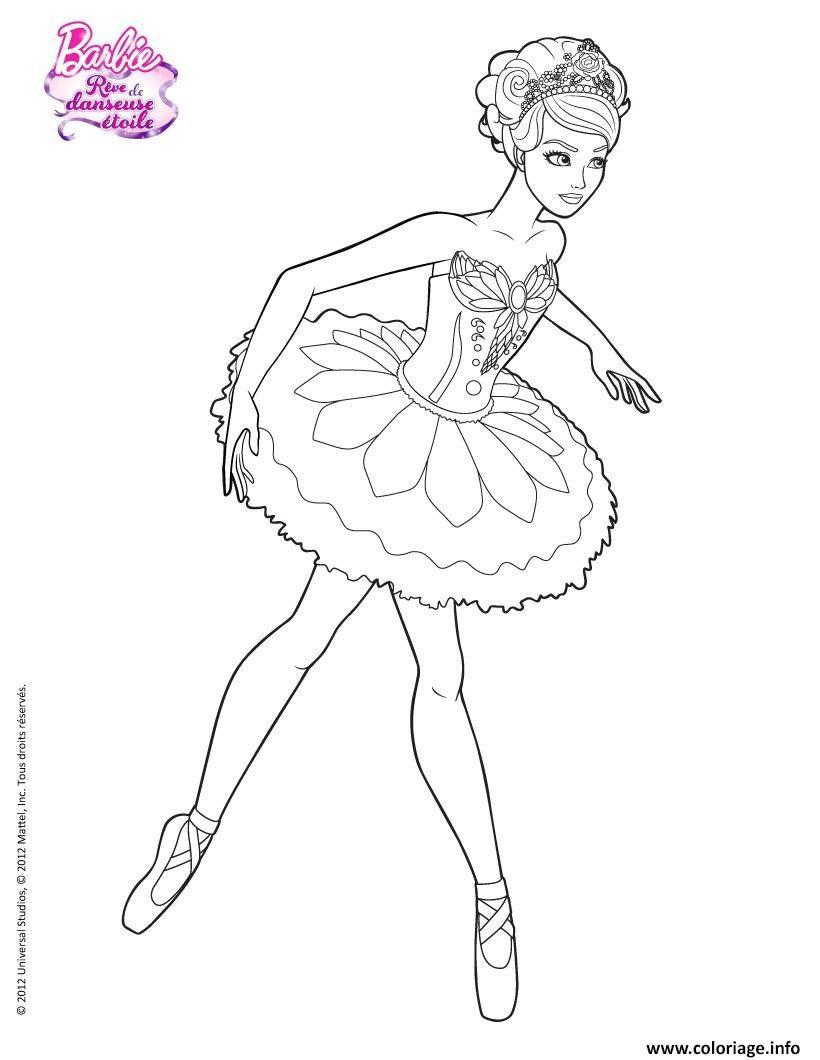 Dessin barbie danseuse Coloriage Gratuit à Imprimer