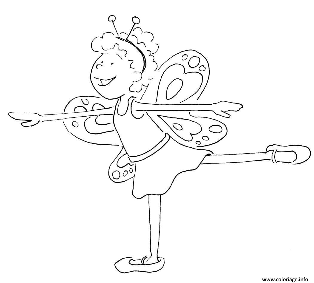 Dessin danseuse papillon Coloriage Gratuit à Imprimer