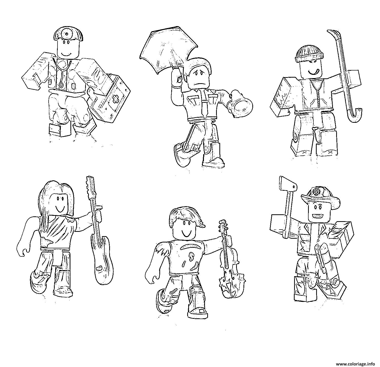 Dessin roblox characters Coloriage Gratuit à Imprimer