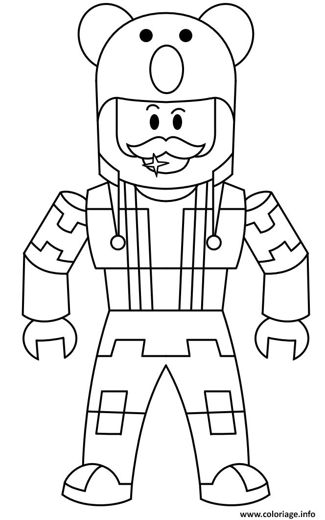 Dessin Roblox character men Coloriage Gratuit à Imprimer