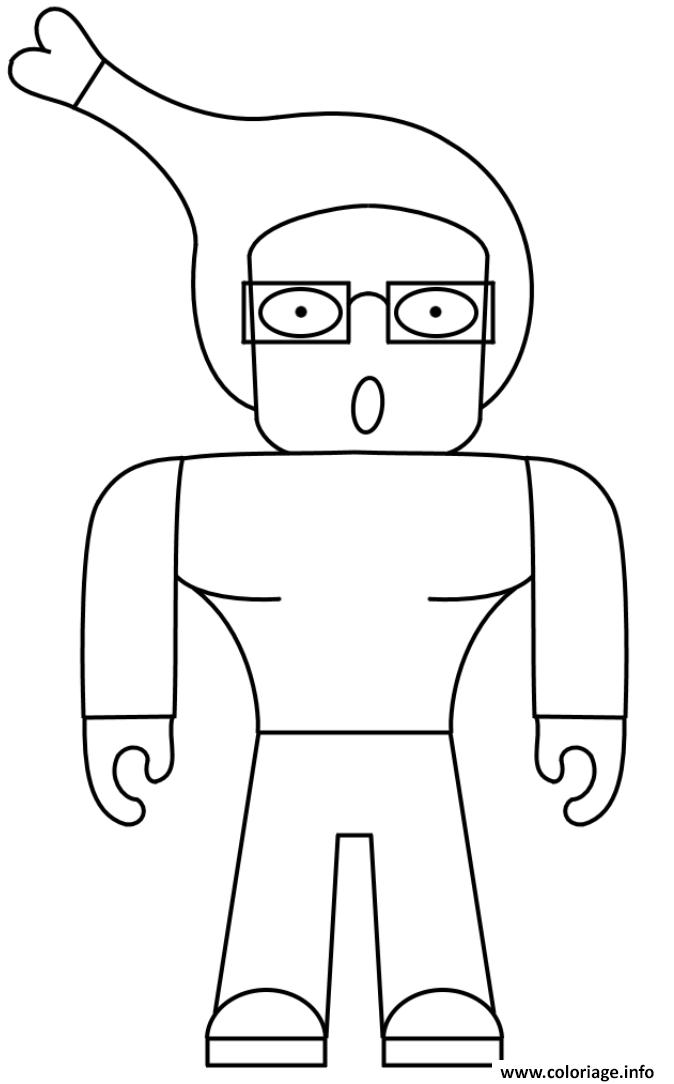 Dessin Weird Roblox Character Human Coloriage Gratuit à Imprimer