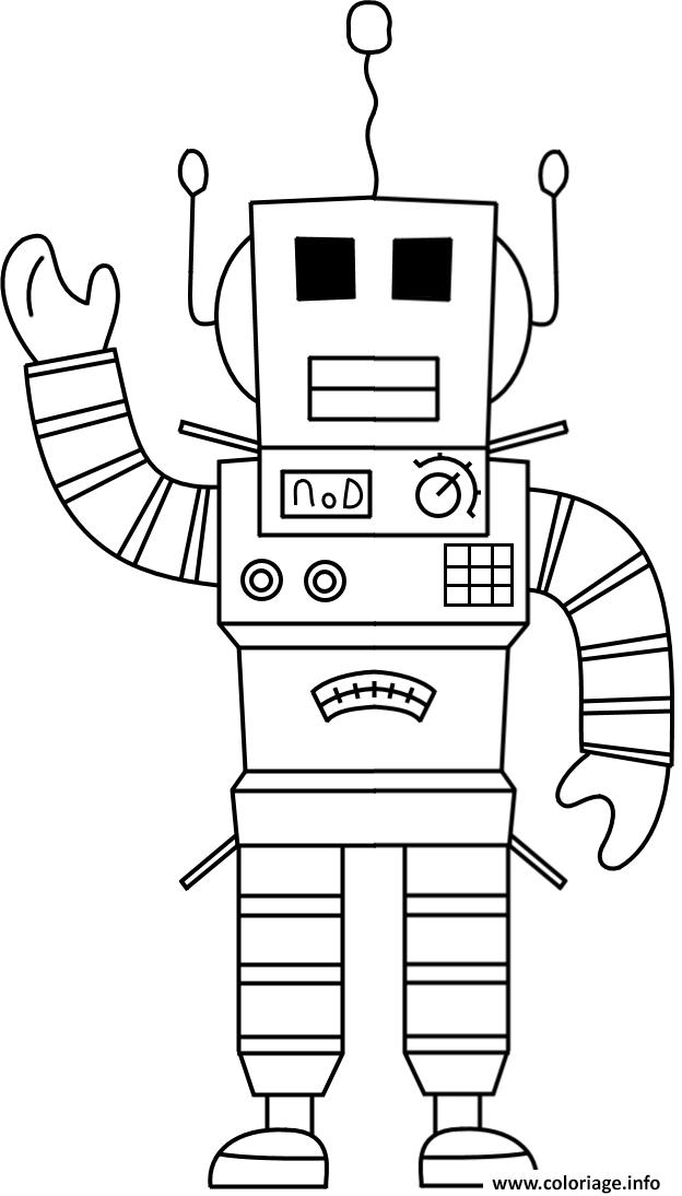 Dessin Roblox Robot Coloriage Gratuit à Imprimer