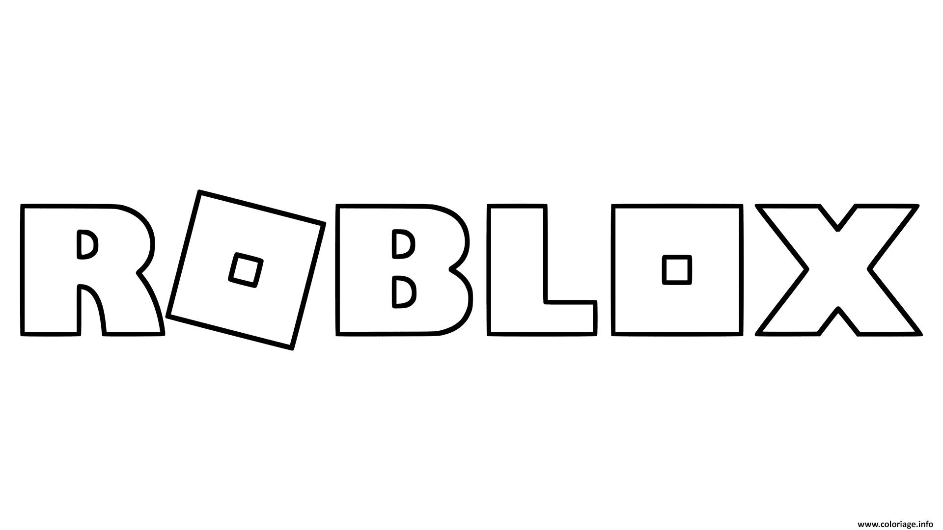 Dessin Roblox Logo Coloriage Gratuit à Imprimer